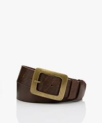 MKT Studio Dora Leather Belt - Brown