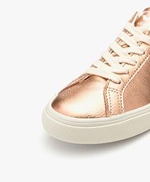 VEJA Esplar Low Logo Leren Sneakers - Venus/Wit