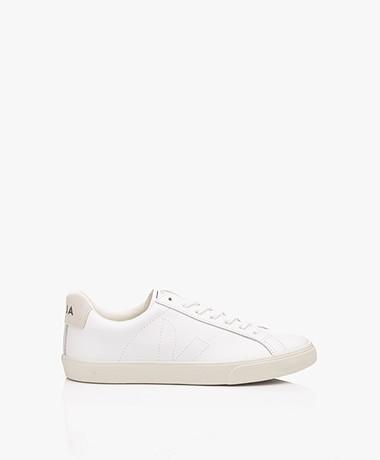 VEJA Esplar Low Logo Leren Sneakers - Extra Wit