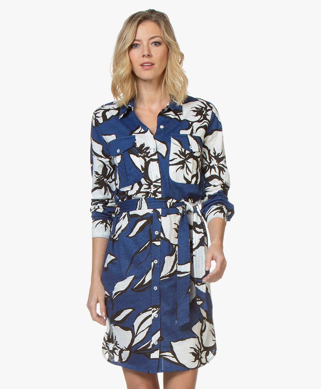 suede jurk kobaltblauw
