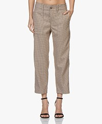 Closed Tony Checked Pied de Poule Pants - Light Brown