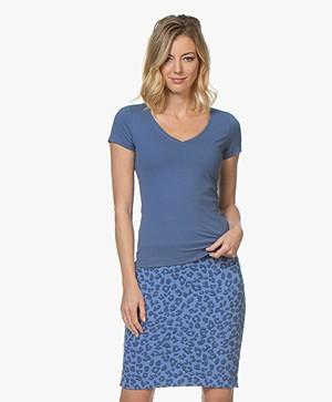 Josephine & Co Charl Katoenen T-shirt - Jeansblauw