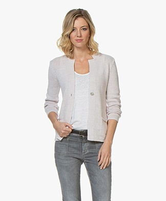 Belluna Pigalle Linen Blend Cardigan - Rose