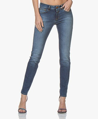 Closed Baker Long Skinny Jeans - Mid Blue