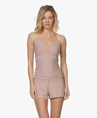 Filippa K Soft Sport Silky Jersey Strap Top - Dusty Pink