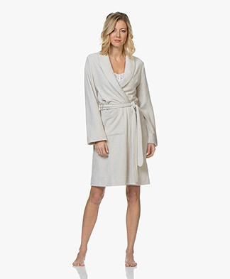 HANRO Robe Selection Fleece Plush Robe - Moonlight