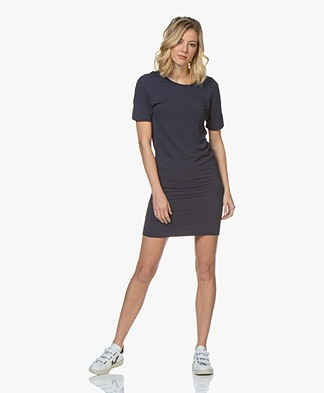 Denham Compass  Low Back Sweater Dress - Dress Blue