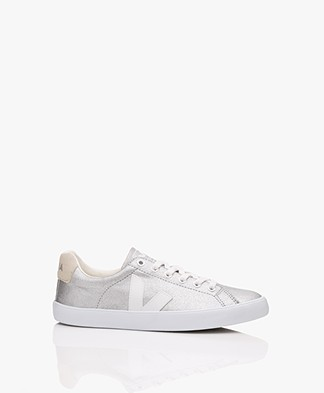 VEJA Esplar Canvas Sneakers - Zilver/Wit/Natural