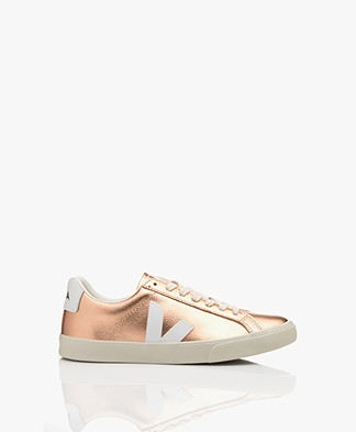 VEJA Esplar Low Logo Leather Sneakers - Venus/White