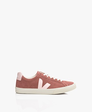 VEJA Esplar Low Logo Suede Leather Sneakers - Dried Petal/Petale