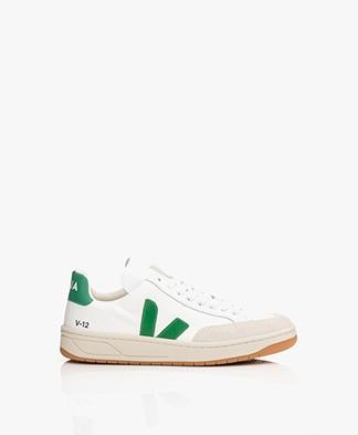 VEJA V-12 B-Mesh Sneakers - White/Emeraude