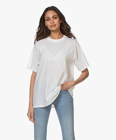 IRO Lozzi Oversized Cotton T-shirt - White