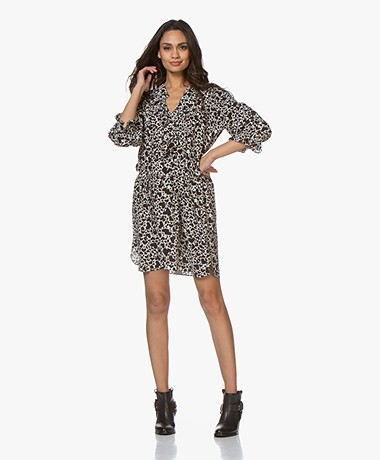 Zadig & Voltaire Roni Coeur Printed Silk Dress - Vanille