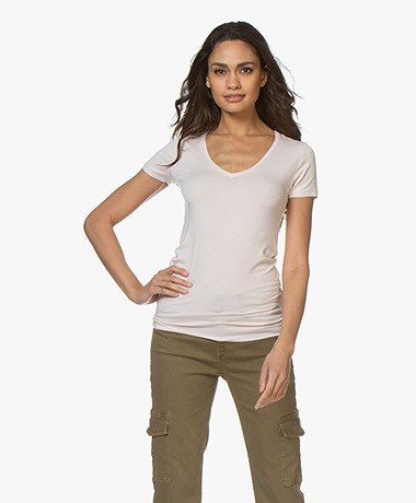 Majestic Filatures Soft Touch V-Hals T-Shirt - Pétale