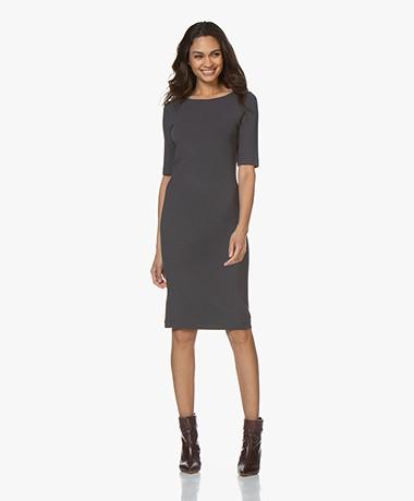 Kyra & Ko Sue Crepe Jersey Dress - Graphite