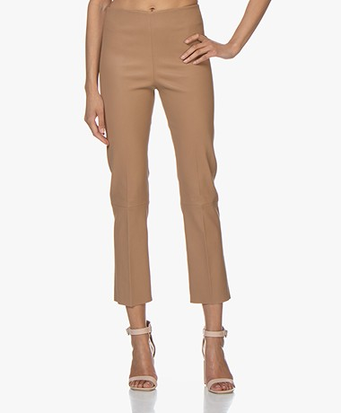 By Malene Birger Florentina Leather Pants - Tan