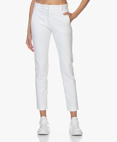 Joseph New Eliston Gabardine Stretch Pants - White