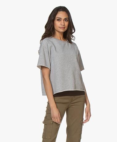 Drykorn Lunie Short Sleeve Sweatshirt - Grey