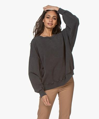 American Vintage Wititi Oversized Sweatshirt - Vintage Zinc
