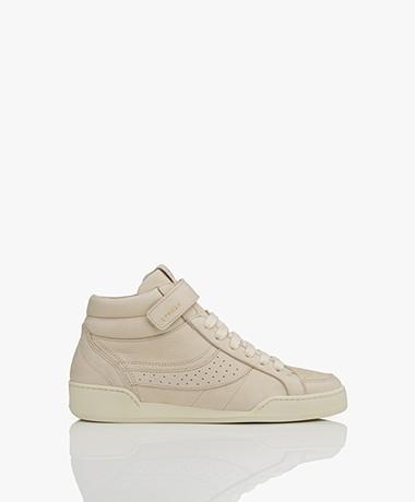 Copenhagen High-top Nubuck Leren Sneakers - Cream