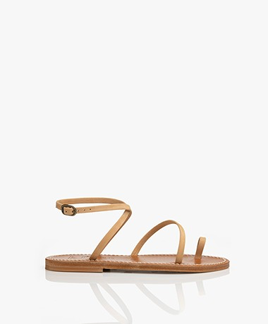 K. Jacques St. Tropez Loki Nubuck Leather Sandals - Naturel