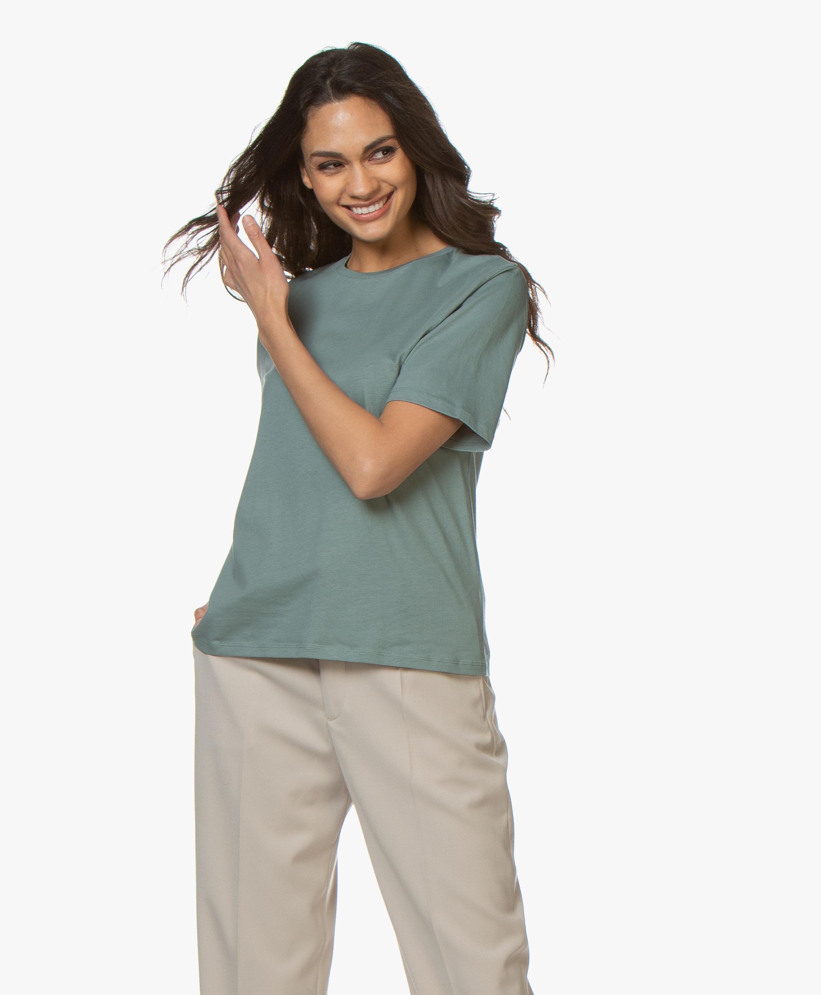 Filippa K Annie Organic Cotton T shirt Mint Powder 25876