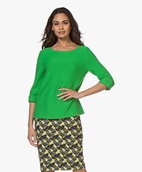Kyra & Ko Sien Fine Knitted Pullover - Green