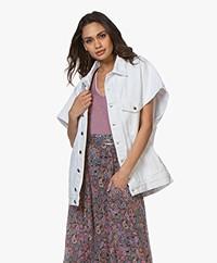 IRO Rungis Oversized Short Sleeve Jacket - White