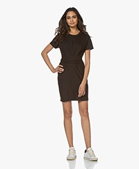 Rag & Bone Aimie Tie Jersey Dress - Black