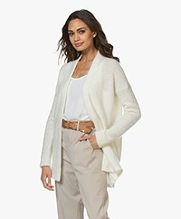 no man's land Mid-length Open Cardigan - Ivory