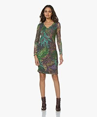 Kyra & Ko Zelia Lace Dress with Print - Graphite