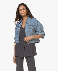 ba&sh Dilan Cropped Denim Jacket - Blue Jeans