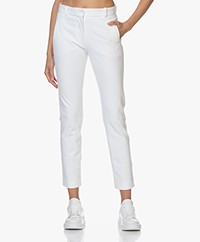 Joseph New Eliston Gabardine Stretch Pantalon - Wit