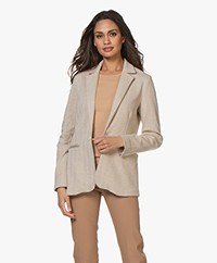 Josephine & Co Bicker Herringbone Jersey Blazer - Coffee