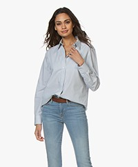 Filippa K Jane Striped Poplin Shirt - Blue Heaven