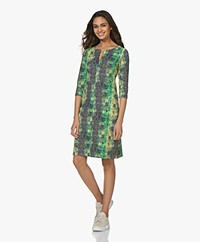 Kyra & Ko Sjaan Textured Jersey Print Dress - Desert