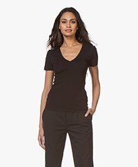 Drykorn Linara V-neck T-shirt - Black