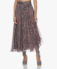 Zadig & Voltaire Joyo Mandala Chiffon Skirt - Multi-color