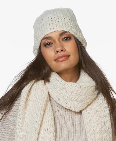Drykorn Kelo Slub Knitted Beanie- Ecru
