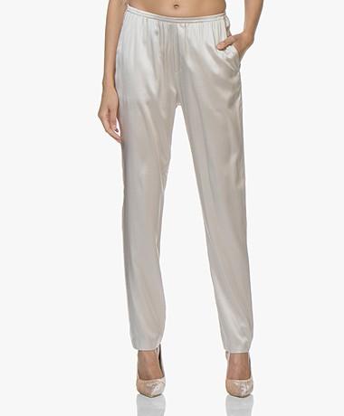 Filippa K Silk Satin Pyjama Broek - Mousse