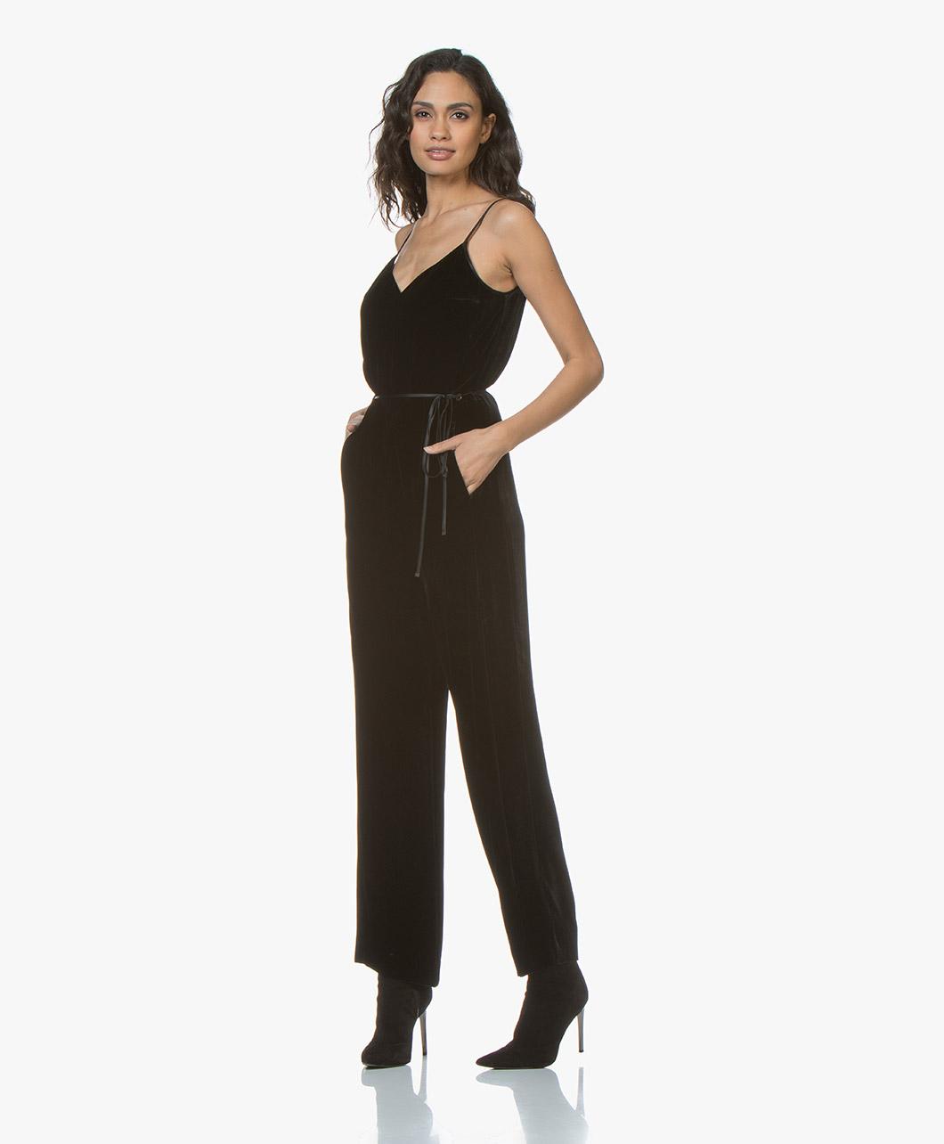 443458bf74dd Rag   Bone Jamie Velvet Jumpsuit - Black - w286j00mh 001