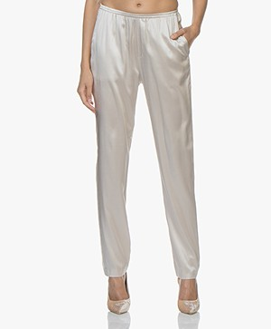 Filippa K Silk Satin Pyjama Broek - Mousse