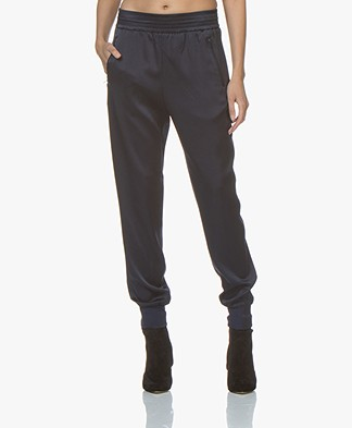 Filippa K Freja Satin Pants - Moody Blue