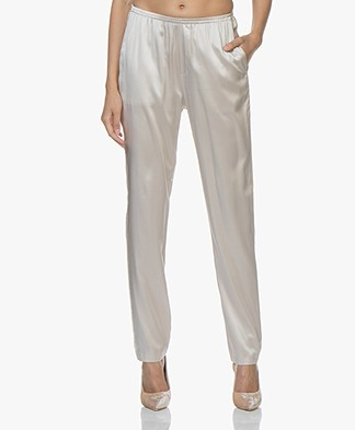 Filippa K Soft Sport Silk Satin Pyjama Pants - Mousse