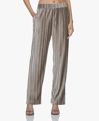 Filippa K Velvet Plissé Trousers - Taupe