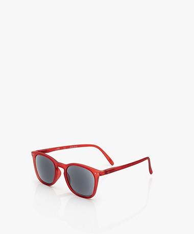 IZIPIZI SUN READING #E Zonnebril op Sterkte - Red Crystal/Grijze Glazen