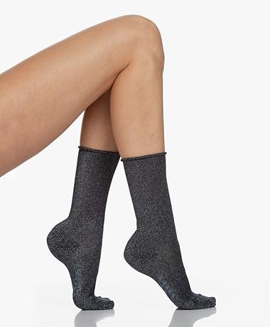 FALKE Shiny Lurex Socks - Dark Navy