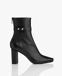 Rag & Bone Ellington Lamb Leather Ankle Boots - Black