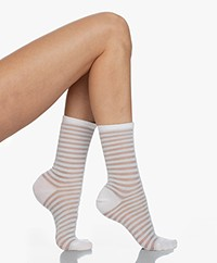 FALKE Flash Lurex Burn-out Socks - White