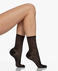 FALKE Flash Lurex Burn-out Socks - Black